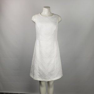 Evan Picone White Shift Dress Size 6